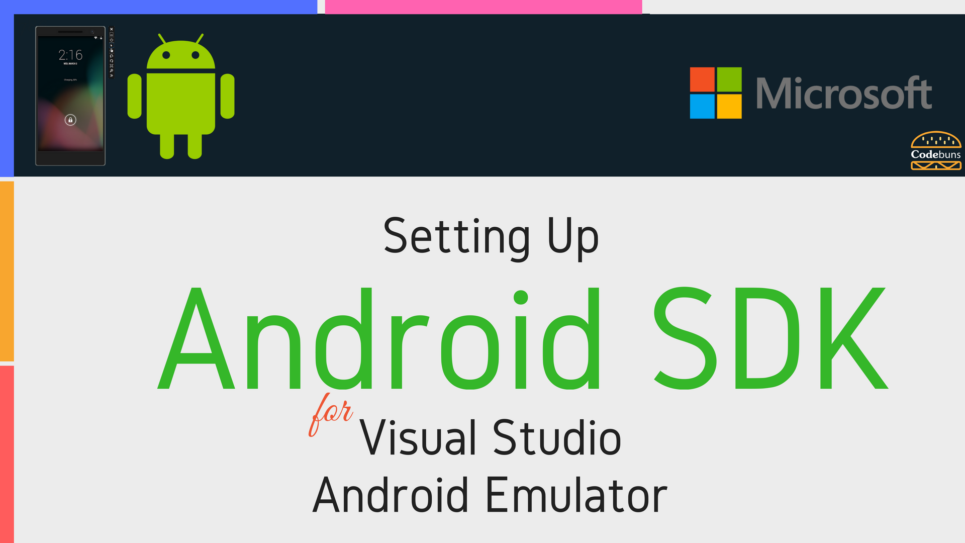 setting up android sdk for visual studio android emulator