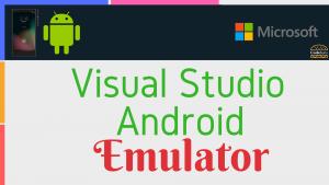 visual studio android emulator