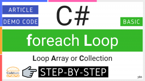 C# foreach loop