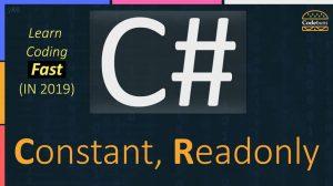 C# Constant, Readonly