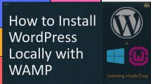 How to Install WordPress Locally with WAMP