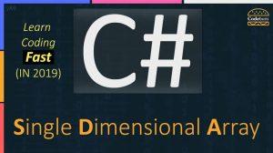 C# Single Dimensional Array