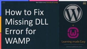 How to fix missing DLL error for WAMP