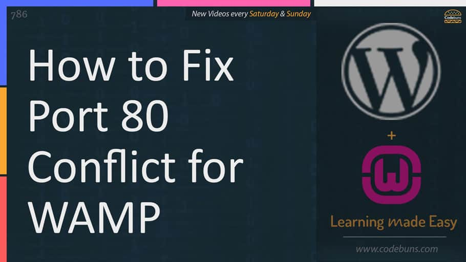 How to fix Port 80 Conflict for WAMP